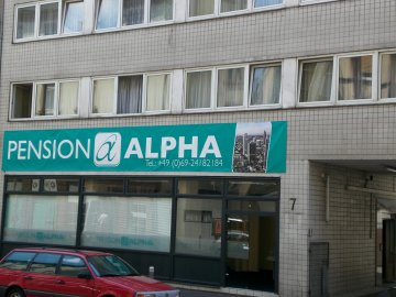 Pension Alpha, Frankfurt