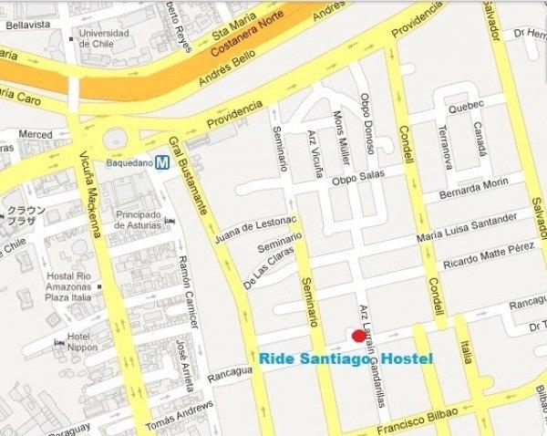 Ride Santiago Hostel, サンティアゴ